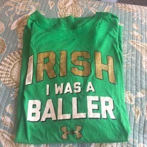 Under Armour UA Irish I was a baller T-shirt